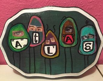 Benutzerdefinierte Augapfel Name Malerei
