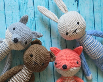 Crochet Fox Toy Etsy