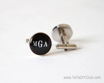 Personalized Groomsman Gift ,Personalized Cufflinks,Monogram Cufflinks, Wedding Gifts for Groomsmen, Monogrammed Gifts for Groomsman CUSTOM