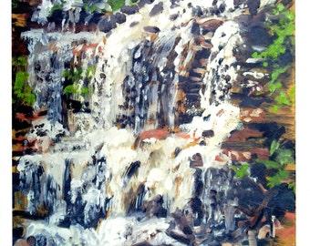 Waterfall at Ricketts Glen Note Card