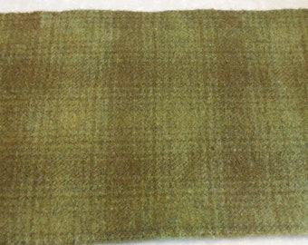 Hand dyed wool fabric - green sage wool - rug hooking - applique and crafts - primitive crafting - quilting - sewing - needle arts - 063