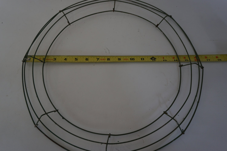 Round Metal WREATH RING, Wreath Form, 16\