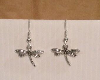 Nickel Dragonfly dangle earrings