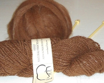 Brown Roving Alpaca Milk fiber 4oz Spin Felt Fiber