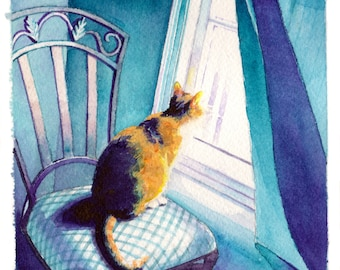 Keegan at Window Print