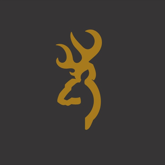 Browning Inspired Vinyl Decal *Choose size & color* Browning Vinyl Sticker - Hunting Deer Hunter Outdoors Sports Big Buck Wild Animals