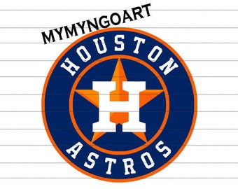 Houston Astros Logo Svg Dxf Eps Png Jpg Cdr Ai Cut Vector File Silhouette Cameo Cricut Design Vinyl Decal