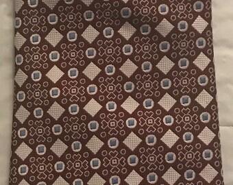 Vintage Tie - Bullock's - Burgundy, Turquoise, Cream