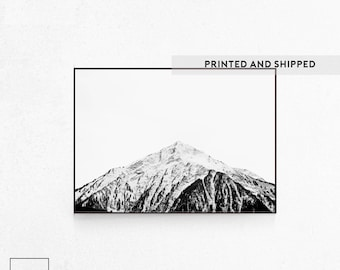 Mountain Print, Nordic Photography, Mountain Photography, Black and White Mountain Print, Scandinavian Photo, Mountain Peak, Nordic Print.