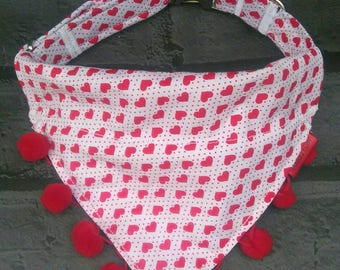 Valentine Dog Collar - Personalized Dog Collar -  Dog Collar - Valentine Bandana - Personalized Dog Collar - Dog Collar Bandana -