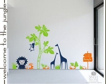 Nursery Jungle Animal Nursery Wall Decals - Vinyl Home Decor