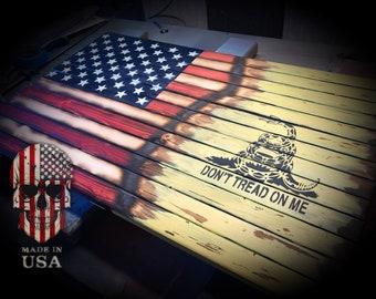 Do not tread on me singe flag