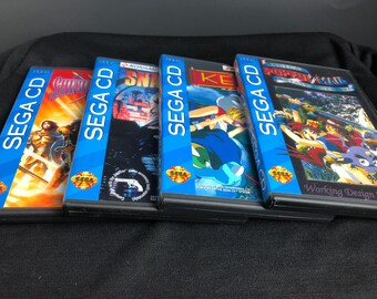 Sega CD Reproduction Lot (Keio Flying Squadron, Popful Mail, Snatcher, Shining Force CD)