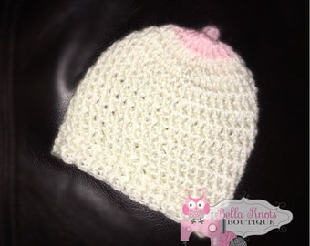 Pro-Breastfeeding Boob Baby Beanie/Newborn Boob Hat ALL Proceeds are donated to charity