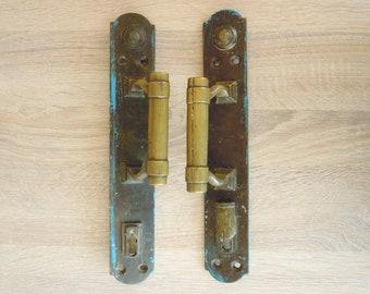 Bronze door knobs. Door handles. Set of 2 pieces.