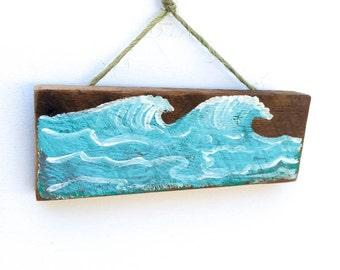 Personalize This Original Art Item-Ocean Waves Beach Sign Beach Decor Beach Island Art Surf Art Florida Key West Coast Beach Art Mangoseed