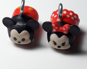 Mickey Mouse and Minnie Mouse charms/Beadiebracelet