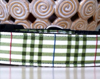 Dog Collar- Green Plaid