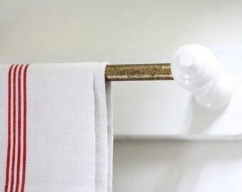 Large. French vintage towels holder. Coat rack. Towel rack. Towels rail. Towel bar. French towel bar. French towel rail. Vintage towel rail.