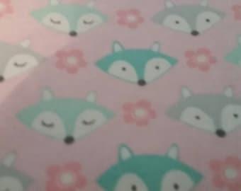 Sleepy fox changing pad cover.