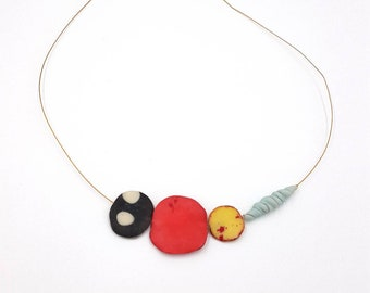 Polymer clay minimal necklace