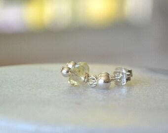 Citrine Earrings, Small Gemstone Earrings, Dainty Earrings, November Birthstone Jewelry