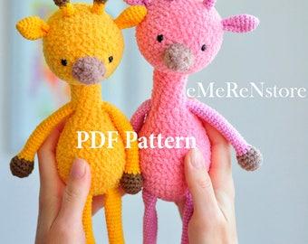 Amigurumi Crochet Pattern-Easy pattern-INSTANT DOWNLOAD,Crochet Pattern,Amigurumi Giraffe Pattern,Crochet Toy Pattern,Amigurumi Pattern
