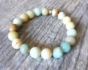 Calm and Soothing Energy - Healing Bracelet - Healing Jewelry - Amazonite Bracelet - Yoga Bracelet - Yoga Jewelry - Energy Bracelet - Yogi