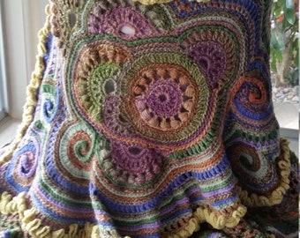 Freeform crochet capelet