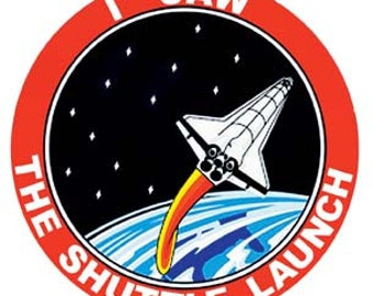 Vintage Style I Saw The Space Shuttle Launch Cape Canaveral NASA  Florida Travel Decal sticker