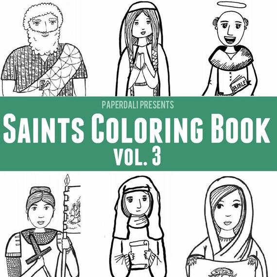Catholic Saints Coloring Book Vol 3 Peter Joan Of