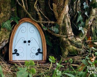 Fairy Door 'Emma' in Blue - Blue Fairy door - Fairy door for tree - Miniature door - Fairy garden - Fairytale door - Tooth Fairy door