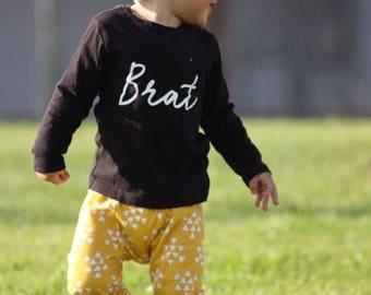BRAT Toddler Long Sleeve Shirt, Toddler Shirts,toddler tshirt,toddler girl long sleeve,toddler boy long sleeve, kids long sleeve, kids shirt