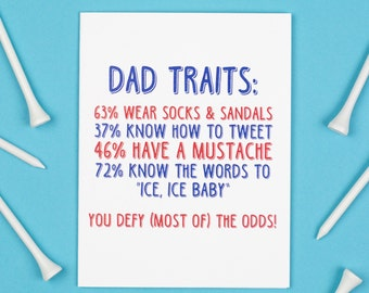 Dad Traits Card, Father's Day Card