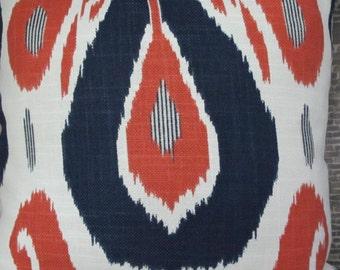Designer Pillow Cover -  Lumbar, 16 x 16, 18 x 18, 20 x 20 - JR - Fazil Ikat Lapis
