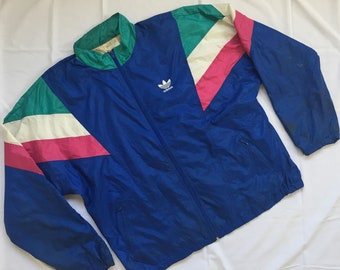 Vintage Adidas Jacket Colour Block