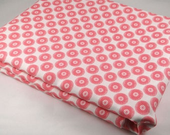 CORAL Posy 3 yds Aneela Hoey Moda sewing quilting Geranium pink flowers shabby farmhouse quilt fabric 3 full yards 18556-19