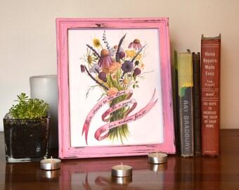 Bible Verse Art for Girls - Scripture Art for Girls - Christian Nursery Art for Girls - Christian Watercolor Art - Christian Wall Art
