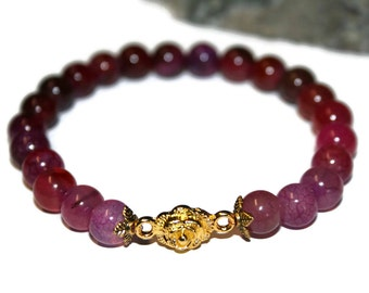 Pink Tourmaline Bracelet Elegant Bracelet Simple Bracelet Delicate Bracelet Mala Bracelet Yoga Jewelry Healing Jewelry Women Gift for Her