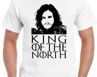 King Of The North Jon Snow - Mens Funny T-Shirt Game Of Thrones GOT John 1501