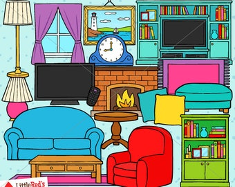 Living Room Clip Art - personal use/limited commercial use