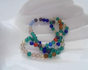 4 mm Bicone Glass Beads, Assorted Colors (1352)
