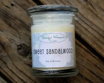 Sweet Sandalwood- Soy & Beeswax Candle