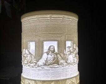 Last supper Lithophane desk lamp