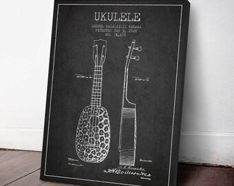 1928 Ukulele Patent, Canvas Print, Ukulele Print, Instrument Print, Wall Art, Home Decor, Gift Idea, MUIN38C