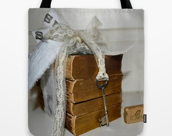 Stack of French Books, Book Bag