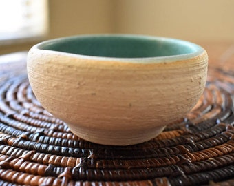 "Ceramic bowl, handmade, 3.25"""