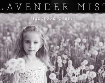 Lavender Mist Lightroom Preset - Single Preset - Adobe Lightroom Preset for 4, 5, 6 and CC - Black and White Preset - Lightroom Plugin