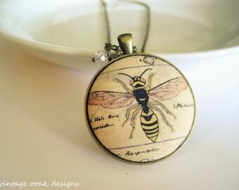 Button Statement Necklace, Button Necklace, Garden Whimsical Button Necklace,Button Jewelry,Steampunk Necklace,Bugs Anatomy Button Necklace