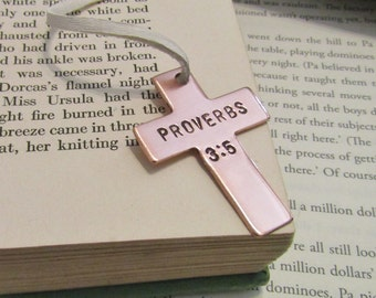 Proverbs 3:5 Trust in the Lord Inspiration Bookmark Baptism Gift from Godmother to Goddaughter Bible Verse Religious Teacher Gift Scripture